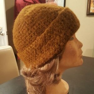 91ff8b15b50d F. L. Fashion Imports Accessories - Deadstock Vintage 70s Brown Knit Winter  Beanie Hat